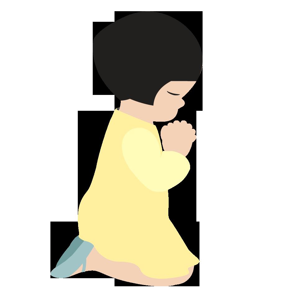 Pix For Little Girl Praying Clipart