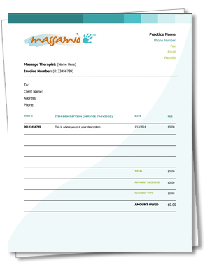 a free #massagetherapy receipt and invoice template. as easy as, Invoice examples
