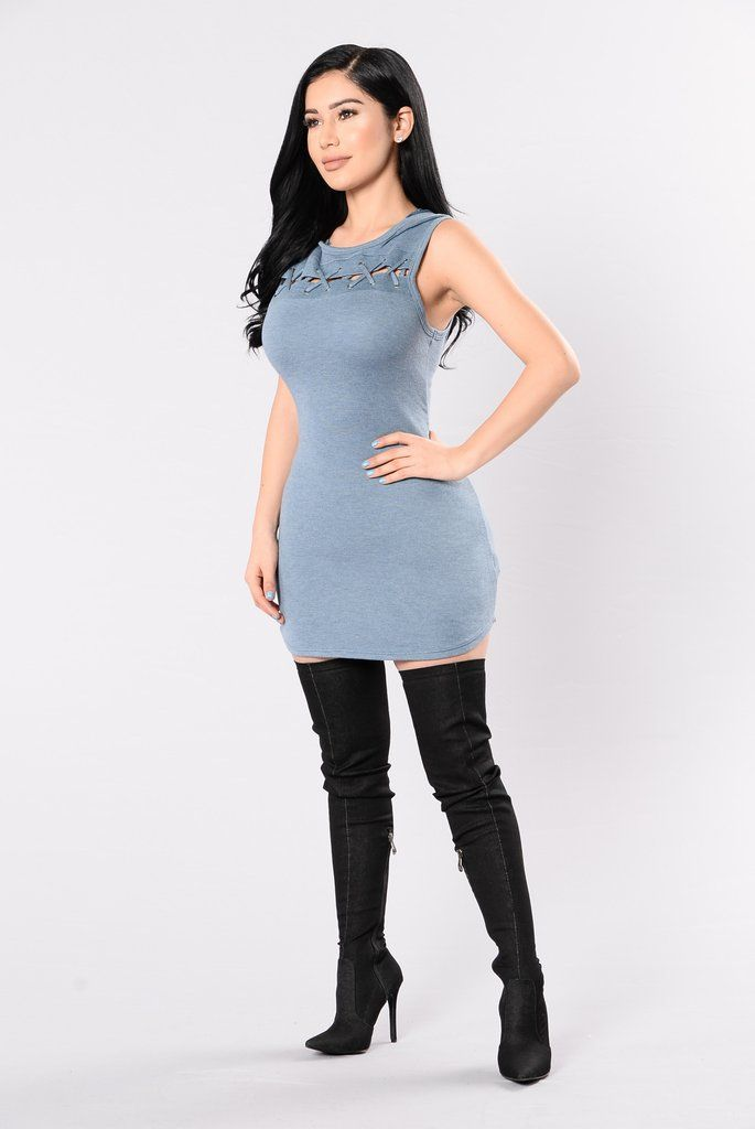 Booked All Week Tunic – Blue