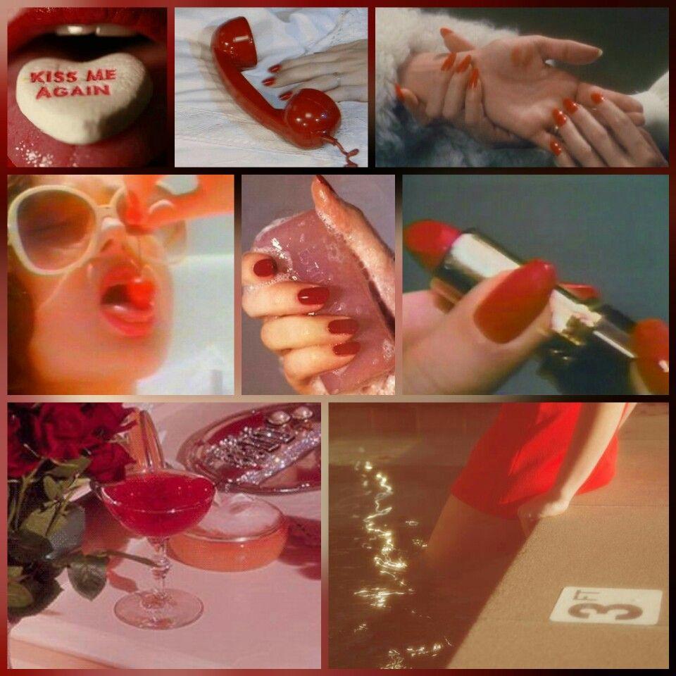 Red Retro 50s Vintage 60s Flufdy Love Romance