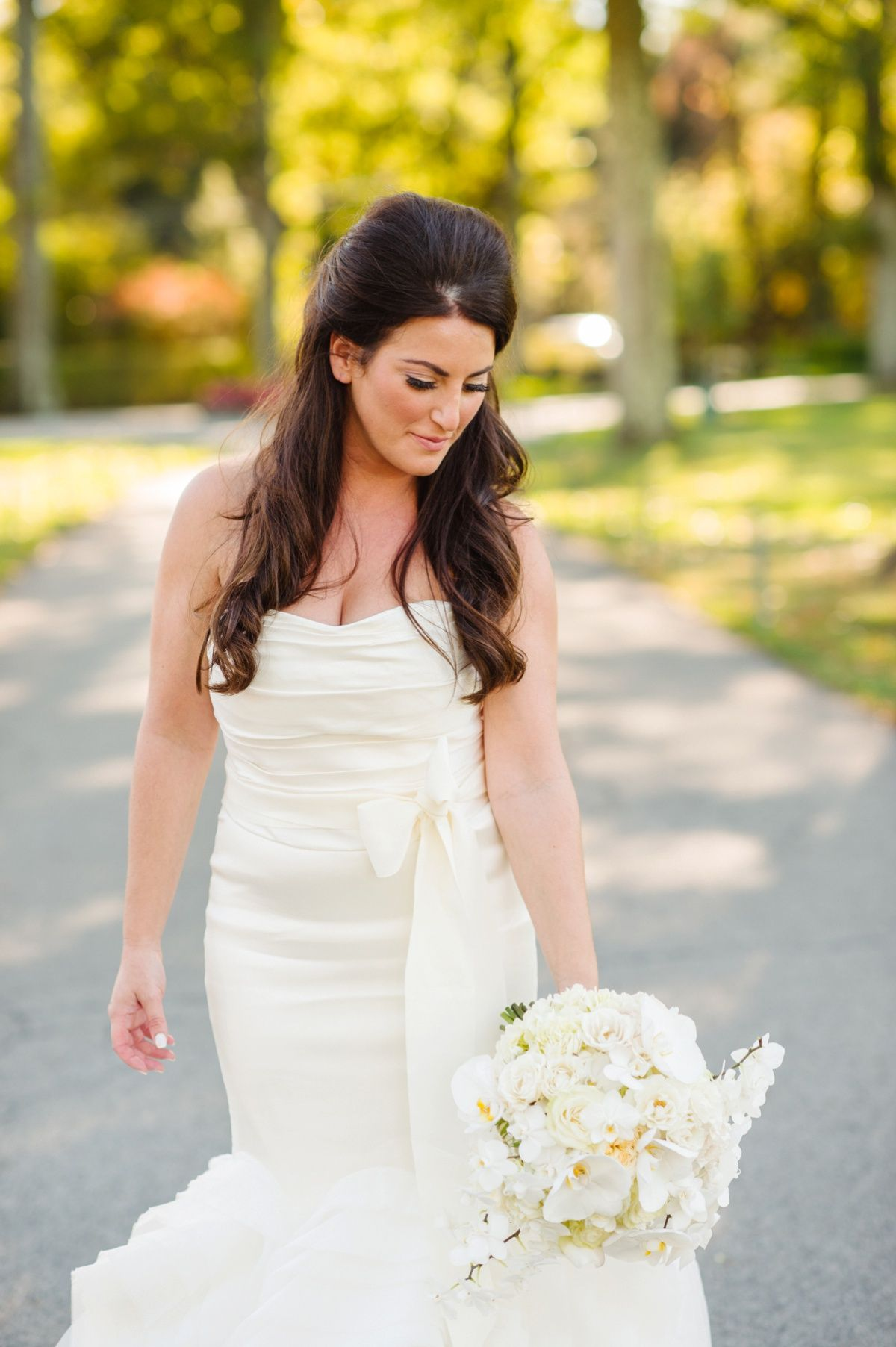 38b00377d12 Fit and Flare Wedding Dress  Flawless Gold   White Wedding at Fox Chapel  Golf Club
