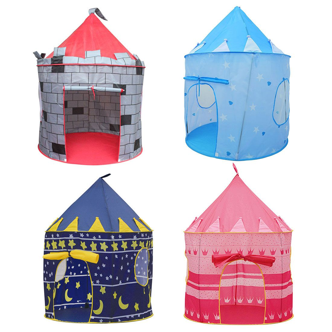24a0119e6 4 Colors Play Tent Portable Foldable Tipi Prince Folding Tent Children Boy  Castle Cubby Play House
