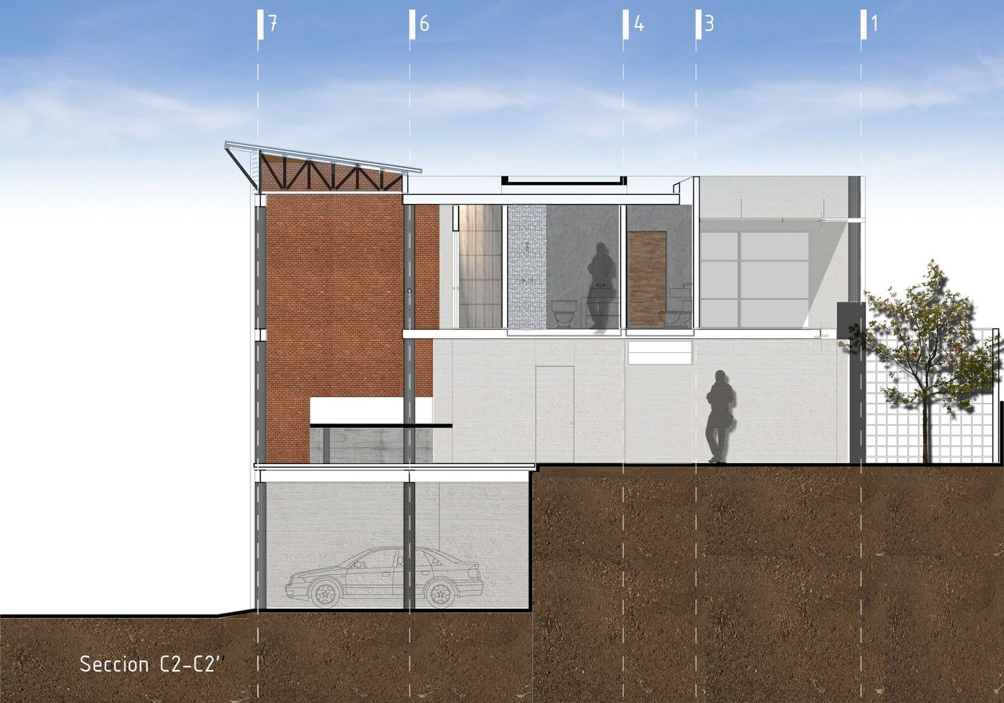 Casa EF, Cuernavaca, México - GBF Taller de Arquitectura - © Luis Gordoa
