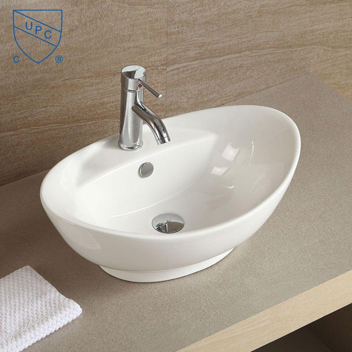 Above Counter Bathroom Sinks Canada. White Oval Ceramic Above Counter Basin Vessel Vanity Sink Art Basin Bathroom Sink