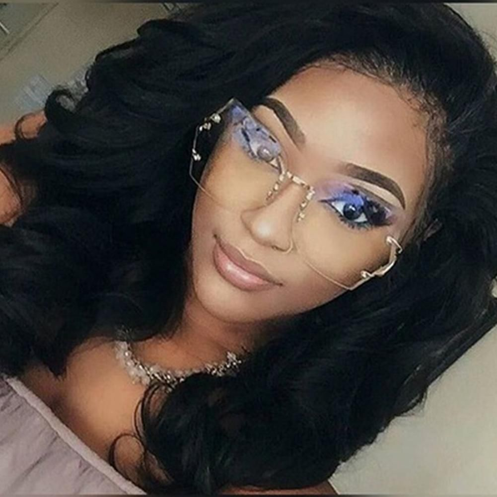 unique hot sell transparent eyeglasses women rimless. Black Bedroom Furniture Sets. Home Design Ideas