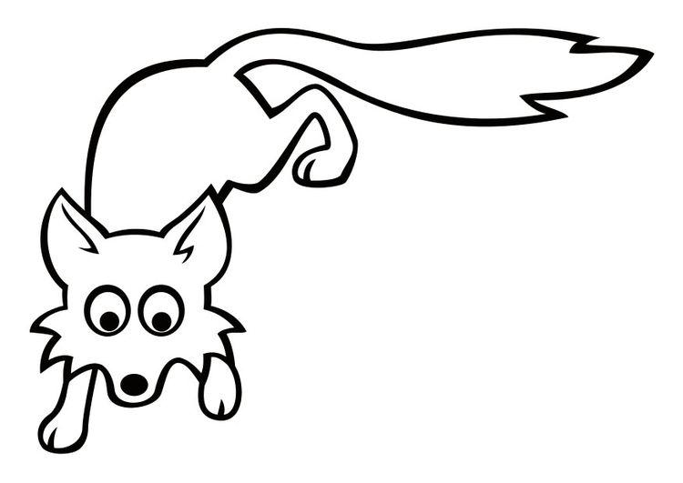 Coloring page fox   img 29040.   Fuchs, Clipart, Malvorlagen