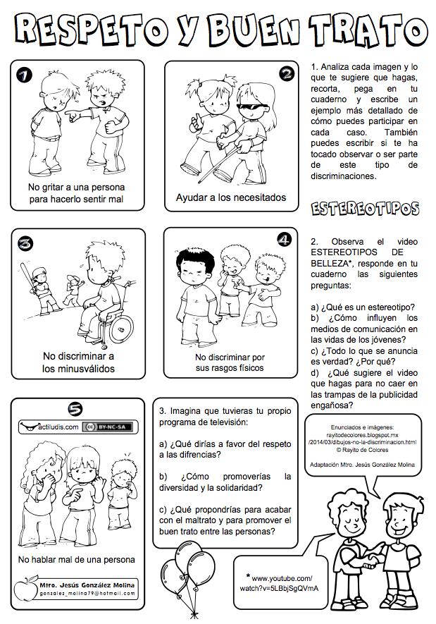 Respeto Y Buen Trato Actiludis Educacion Emocional Español De Escuela Primaria Actividades Escolares