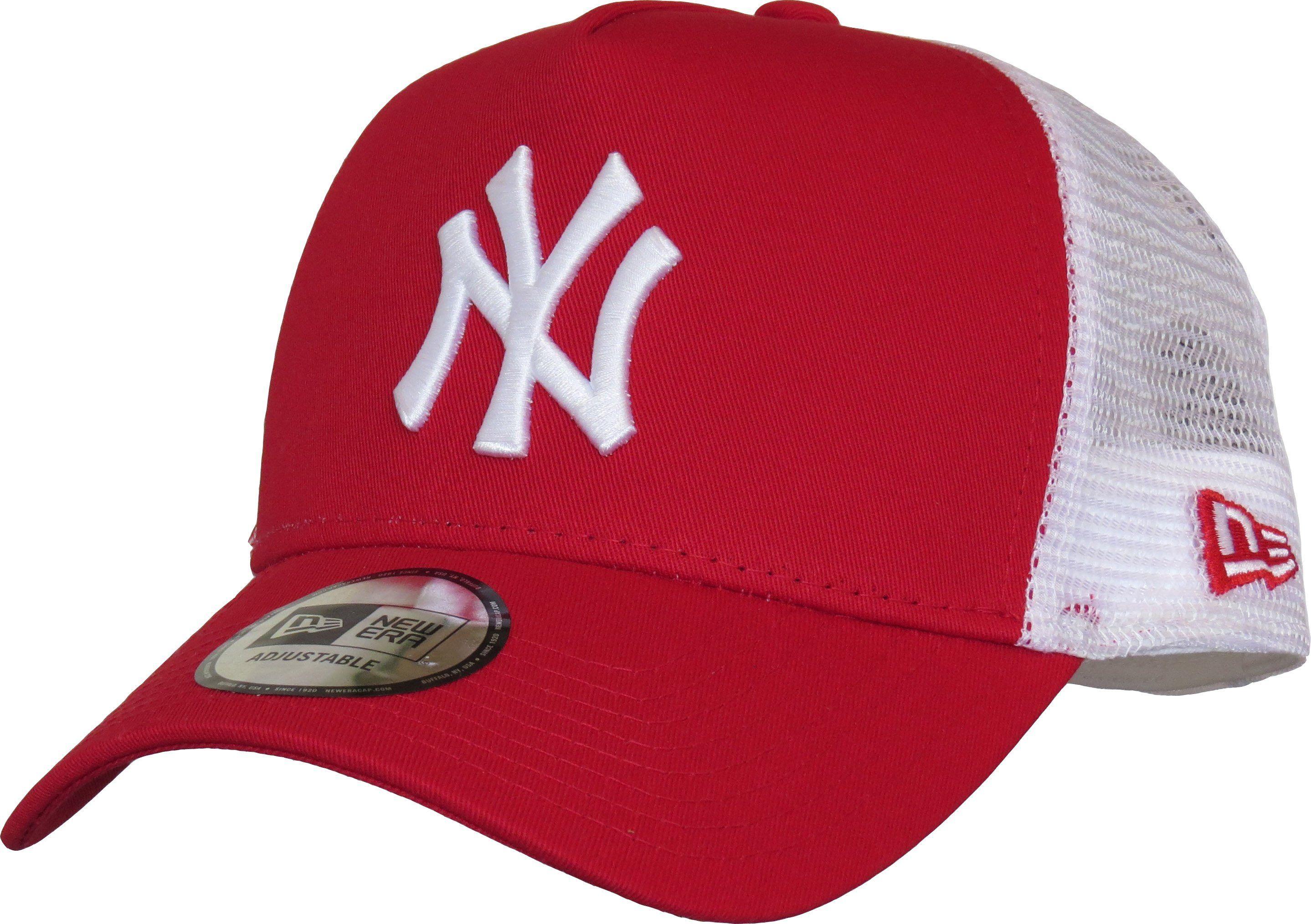 Ny yankees new era red clean trucker cap in 2021 ny
