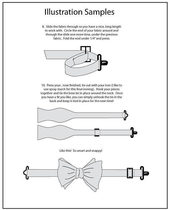 Bow tie how-to with hooks | Мужские брюки,обработка | Pinterest ...
