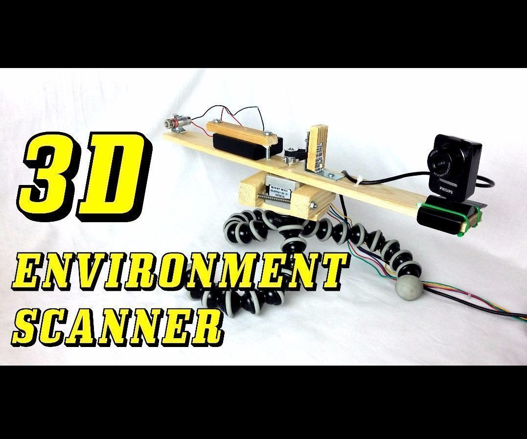3D Environment Laser Scanner From Scratch | 3D printing | 3d