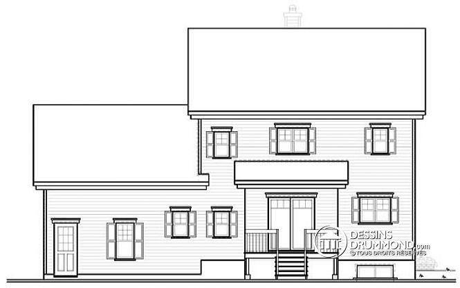 W3402 - Grenier aménageable, modèle familiale, brique sur 3 façades