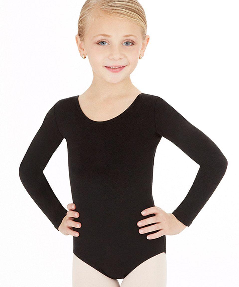 89bde4d3d Another great find on #zulily! Capezio Black Long-Sleeve Leotard - Toddler  & Girls by Capezio #zulilyfinds