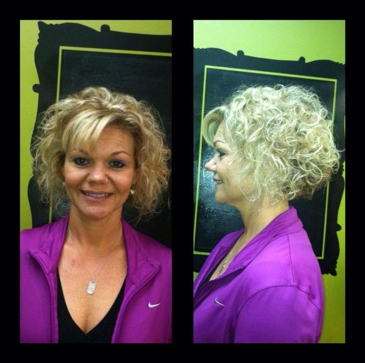 Short Stacked Bob Curly Hair No Bangs Pinterest Wavy Hairstyles 736x733
