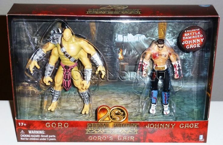 Goro and johnny cage figure set