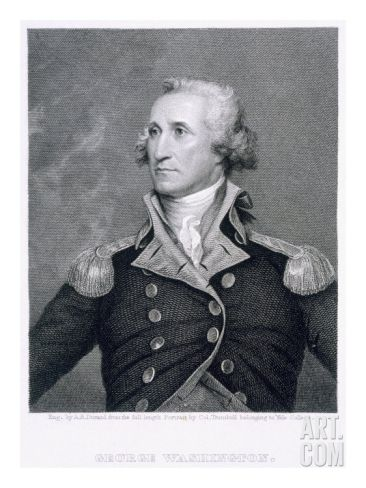 George Washington Engraved By Asher Brown Durand Giclee Print By