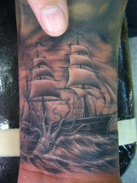 ship micro tattoo ben grillo