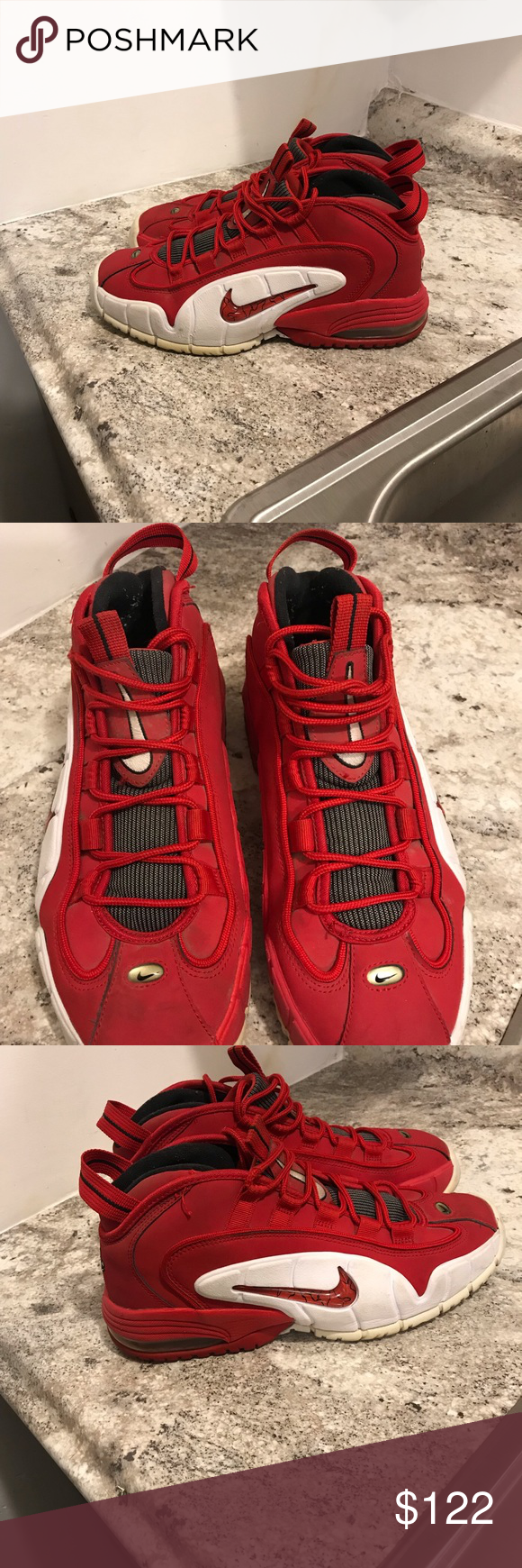 """huge discount e4a2c 7b2d1 Nike Air Max Penny 1 Nike Air Max Penny 1 """"Rival Pack"""" University Red White  685153-600 Mens Size 10.5 -Nike Air Max Penny 1 Nike Shoes Athletic Shoes"""