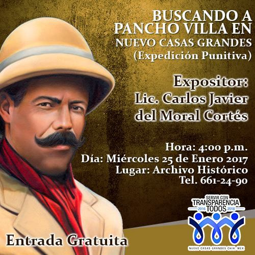 Será por medio de diapositivas con fotografías que el expositor, Carlos Javier del Moral Cortés lleve a cabo la explicación de la expedición punitiva....