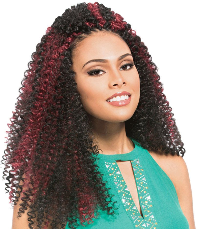 Berry Curl Sensationnel 3 Packs Braid Crochet Hair Weave Extensions
