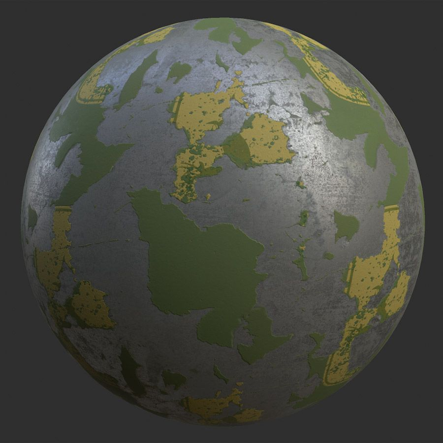 Chipped Paint Metal PBR Material Metallic paint, Free