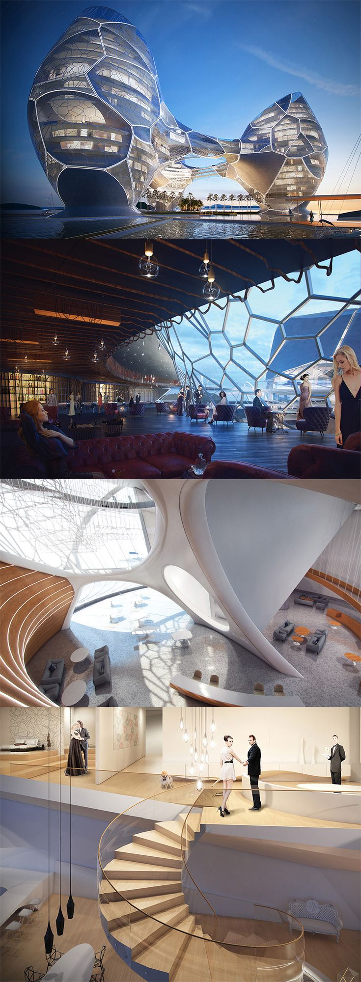 The luxurious 'Ocean Nebula Hotel' concept is located in ...