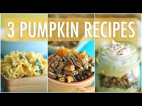 3 easy healthy pumpkin recipes youtube salud pinterest salud 3 easy healthy pumpkin recipes youtube forumfinder Image collections