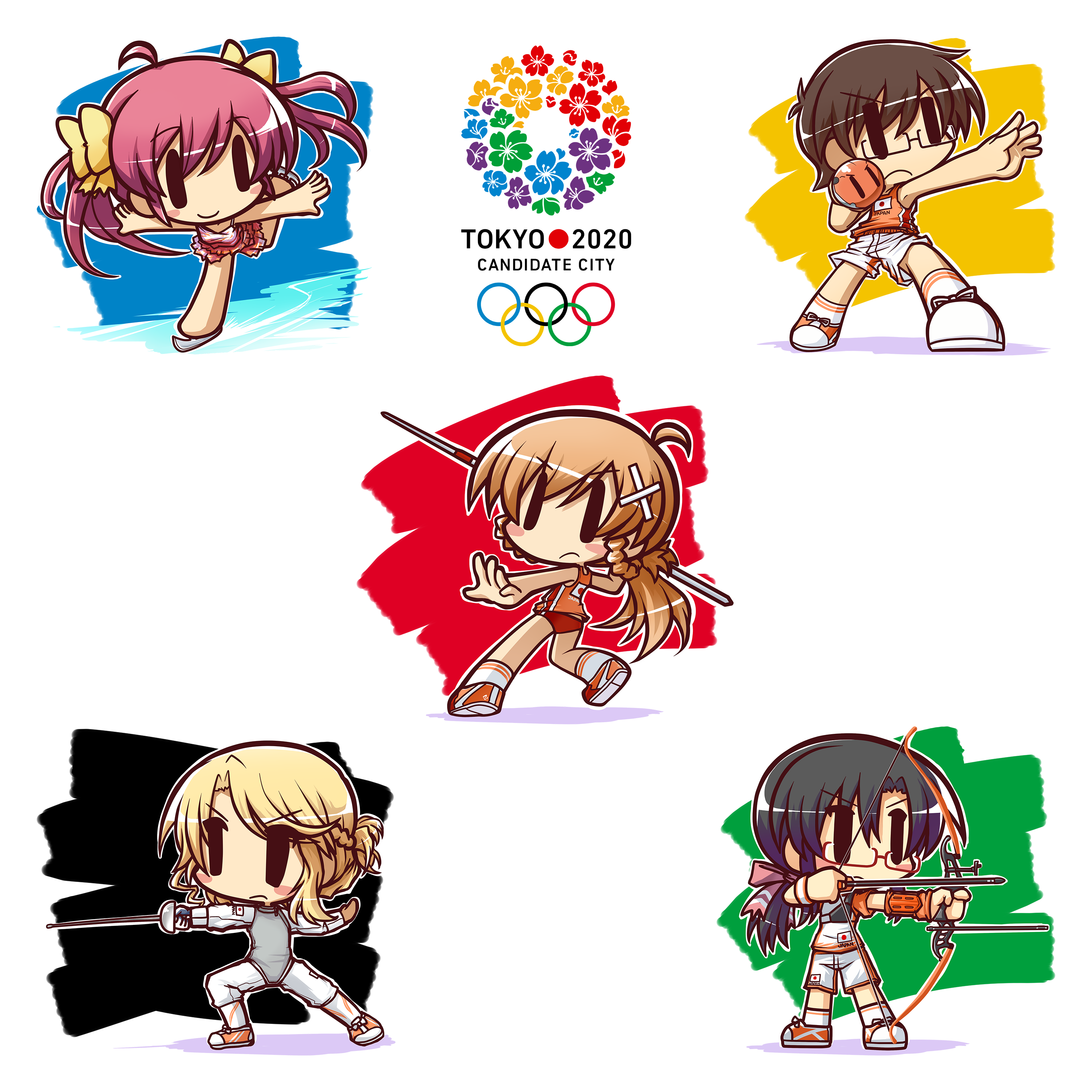 Tokyo 2020 Candidate City Petition Mascots