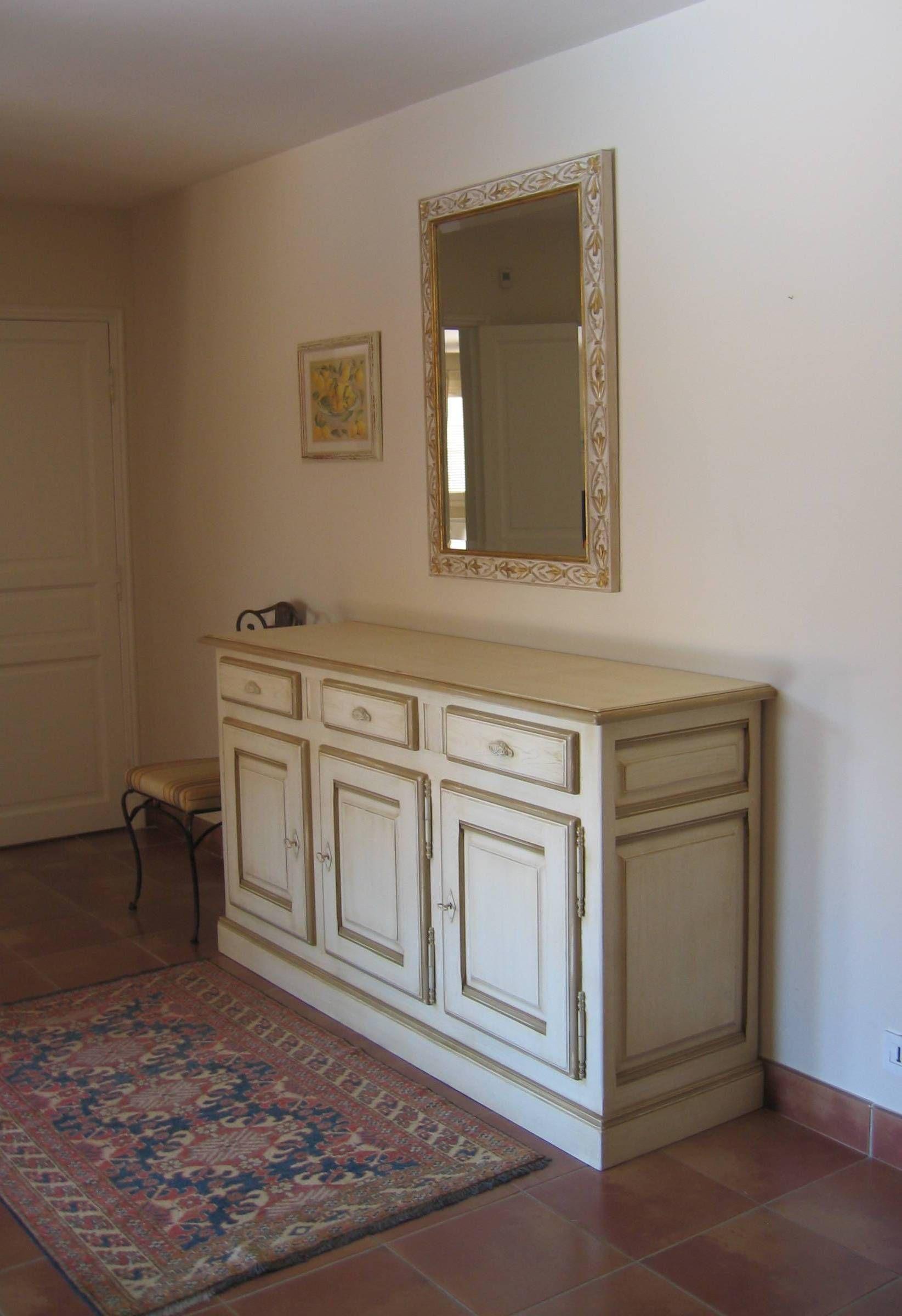 Buffet Provencal Patine Blanc Mobilier De Salon Meuble Haut De Gamme Decoration Interieure