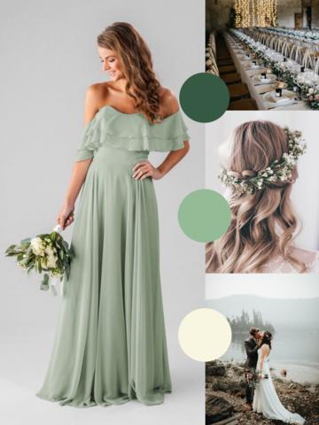 Sage Green Bridesmaids Dresses We Love #sagegreendress