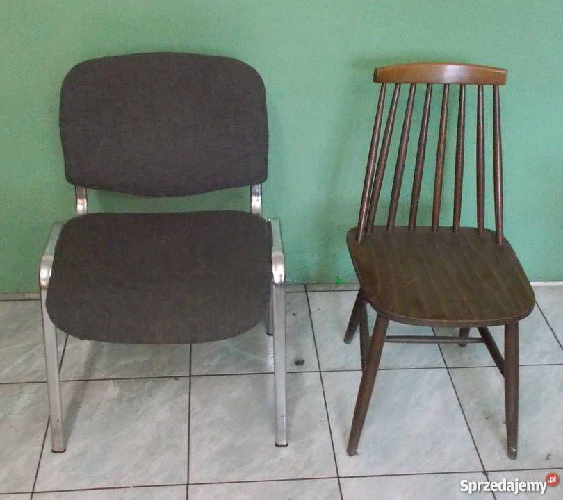 20 Zł Krzesła Drewniane 12 Szt Po 20 Zł Krzesła Metalowe Z