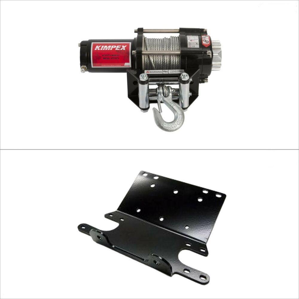 Ebay Sponsored Kimpex Kfi Winch Mount Kit Bracket 2500 Lb Steel Cable Honda Trx400 450 Foreman Winch Quad Suzuki