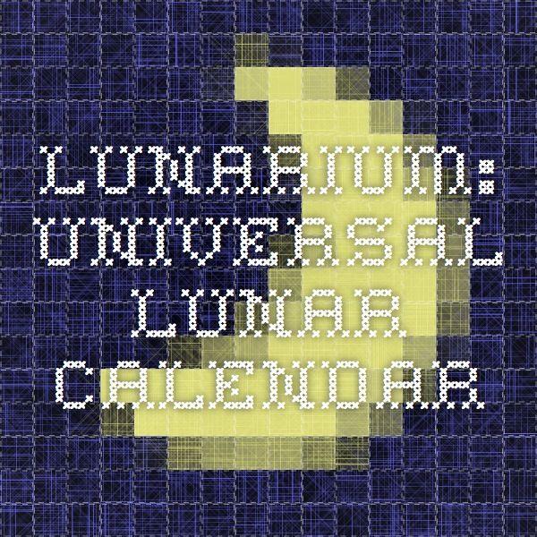Lunarium: Universal Lunar Calendar   Luna   Moon sign