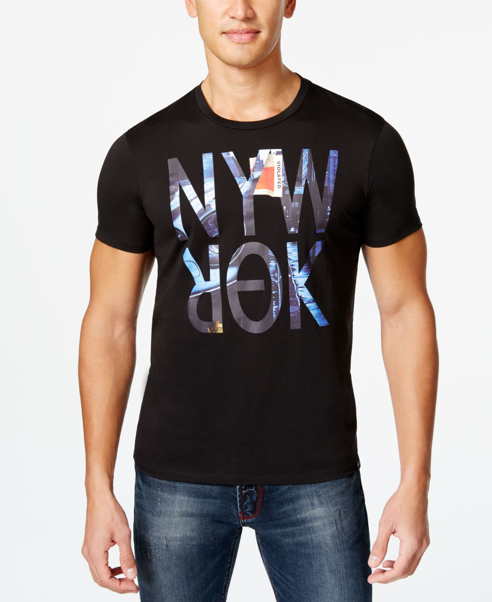 ab64f9034e4 Armani Exchange Men s Ny City Graphic-Print T-Shirt