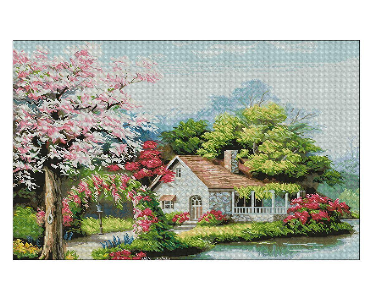 756190745 Ponto Cruz - Casa do Arco de Flores | Thimage - Ponto Cruz em PDF | Elo7