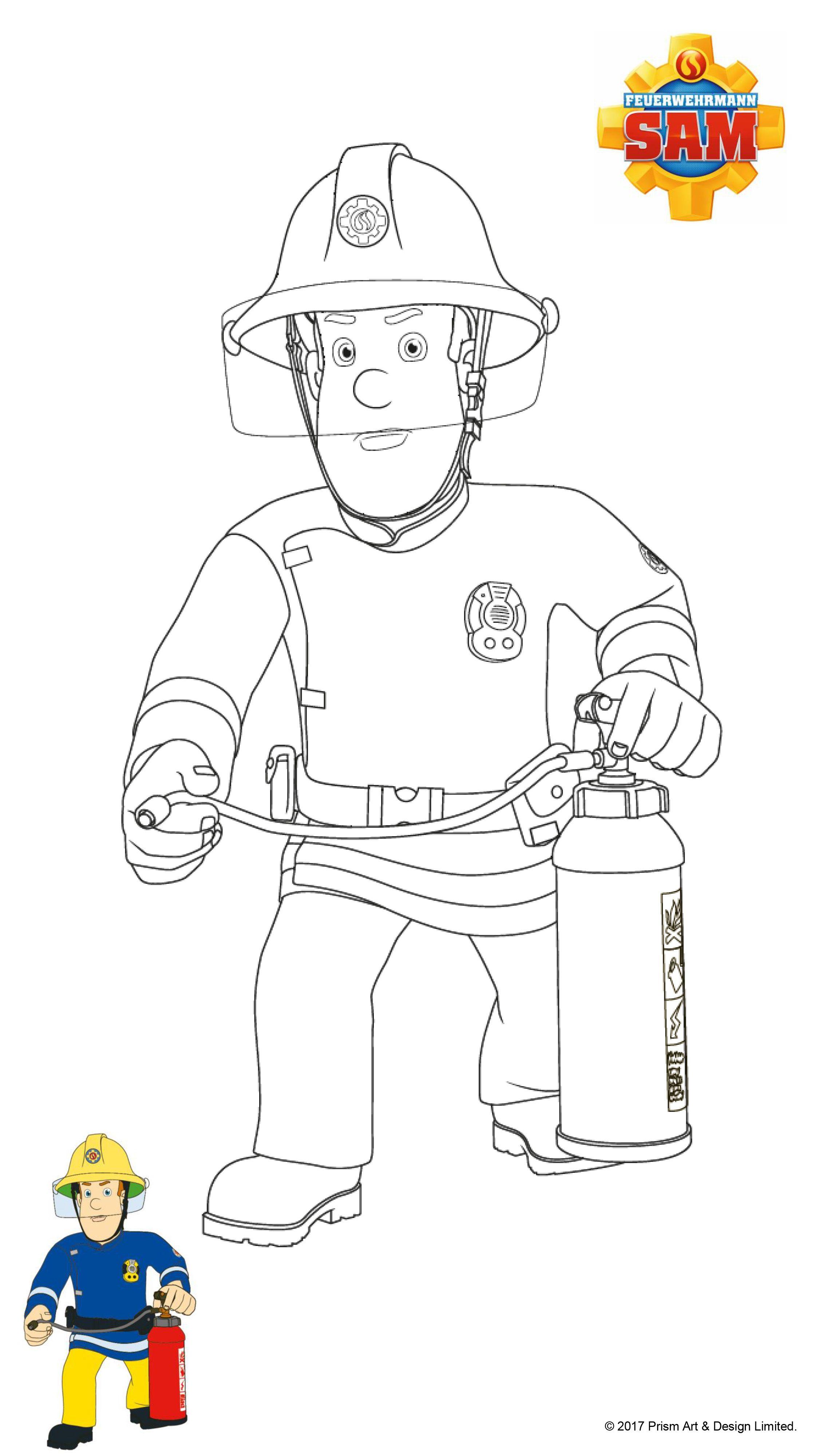 Feuerwehrmann Sam Ausmalbilder  myToys Blog  Ausmalbilder