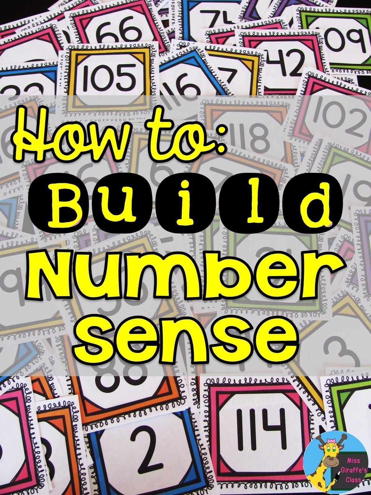 Miss Giraffe\'s Class: Building Number Sense in First Grade. Some ...