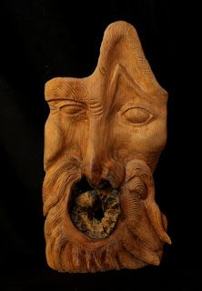 Bearded Man: oak | Will Worsnopp-wood carving.