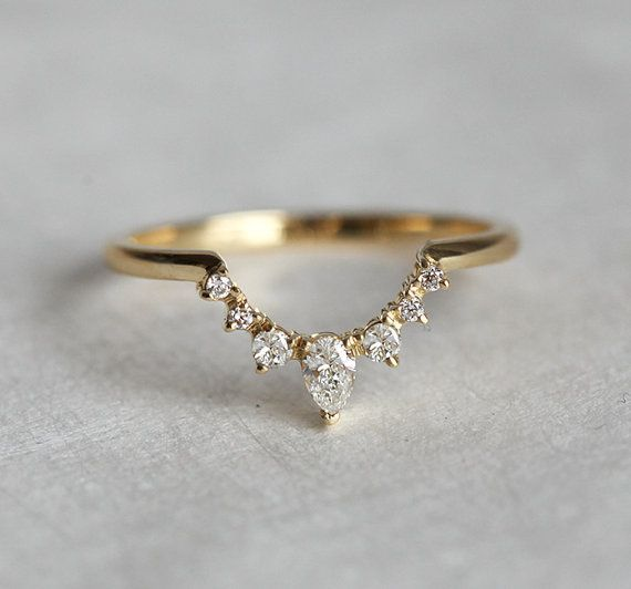 White Diamond Ring We Can Make This Band To Match Perfectly With Your Engagement Looks Best Round Pear Oval Cushion Shaped