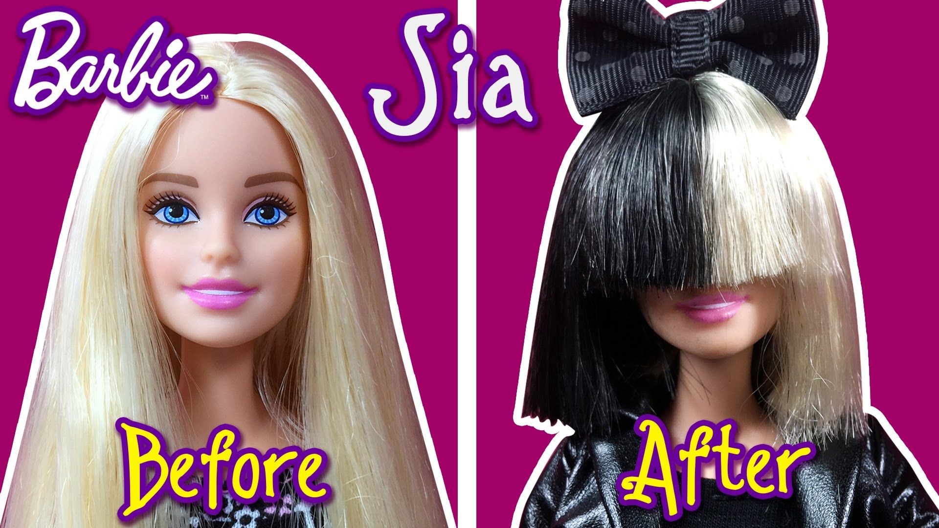 Sia Hair Tutorial For Barbie Doll How To Make Barbie Hairstyle