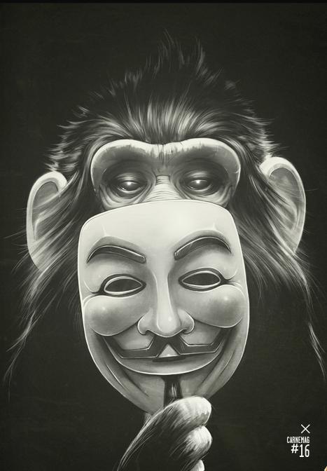 Monkey Illustrations by Dr Lukas Brezak