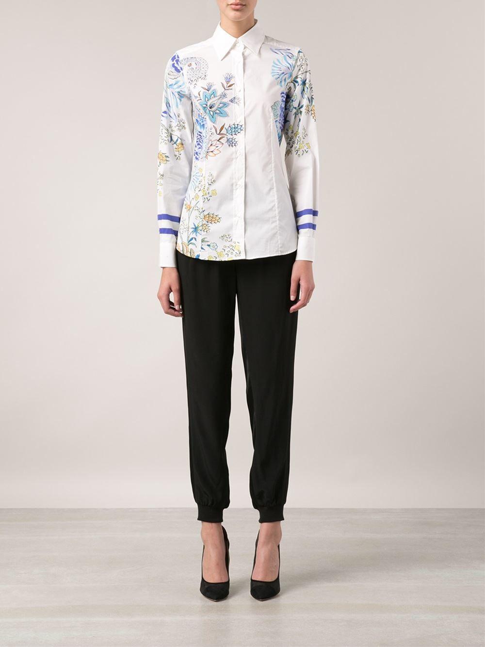 Etro Flower Print Shirt - Biedermann En Vogue - Farfetch.com