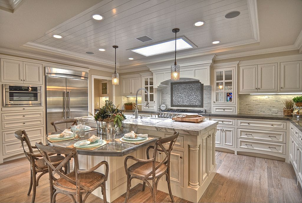 concrete island marble complex breakfast nook crown molding traditional custom ho on kitchen island ideas eat in id=23852