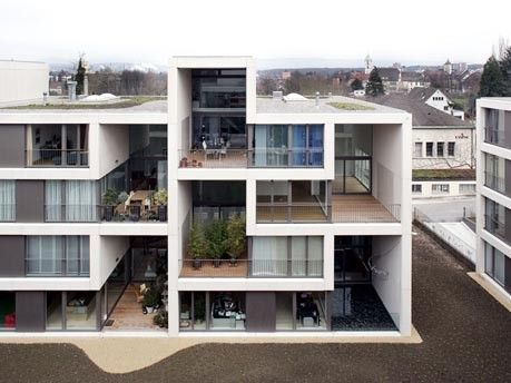 bildstrecke – pile up - konzept für moderne geschosswohnungen, Innenarchitektur ideen