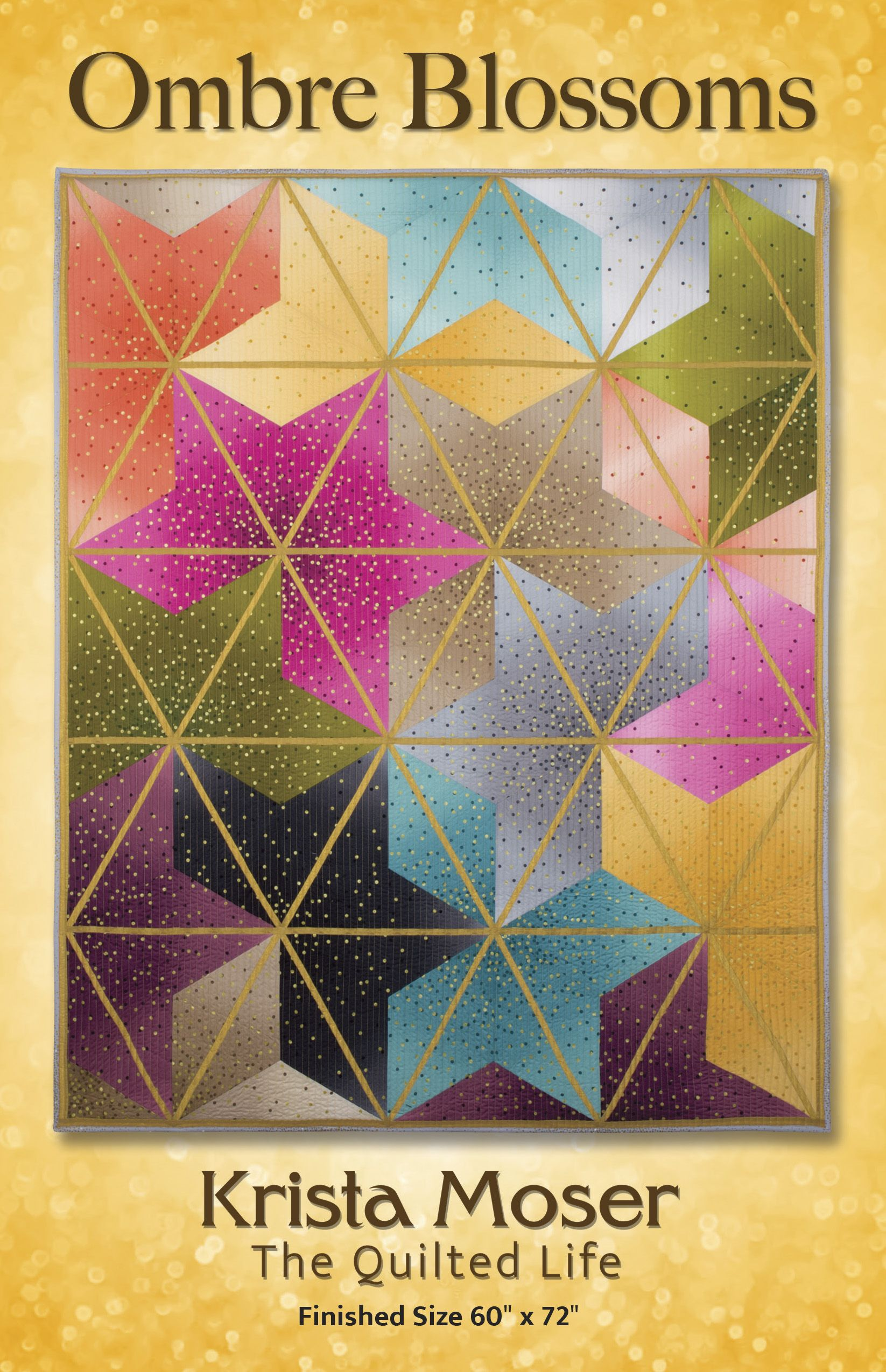 Ombre Blossoms Krista Moser, The Quilted Life | Ombre | Quilts
