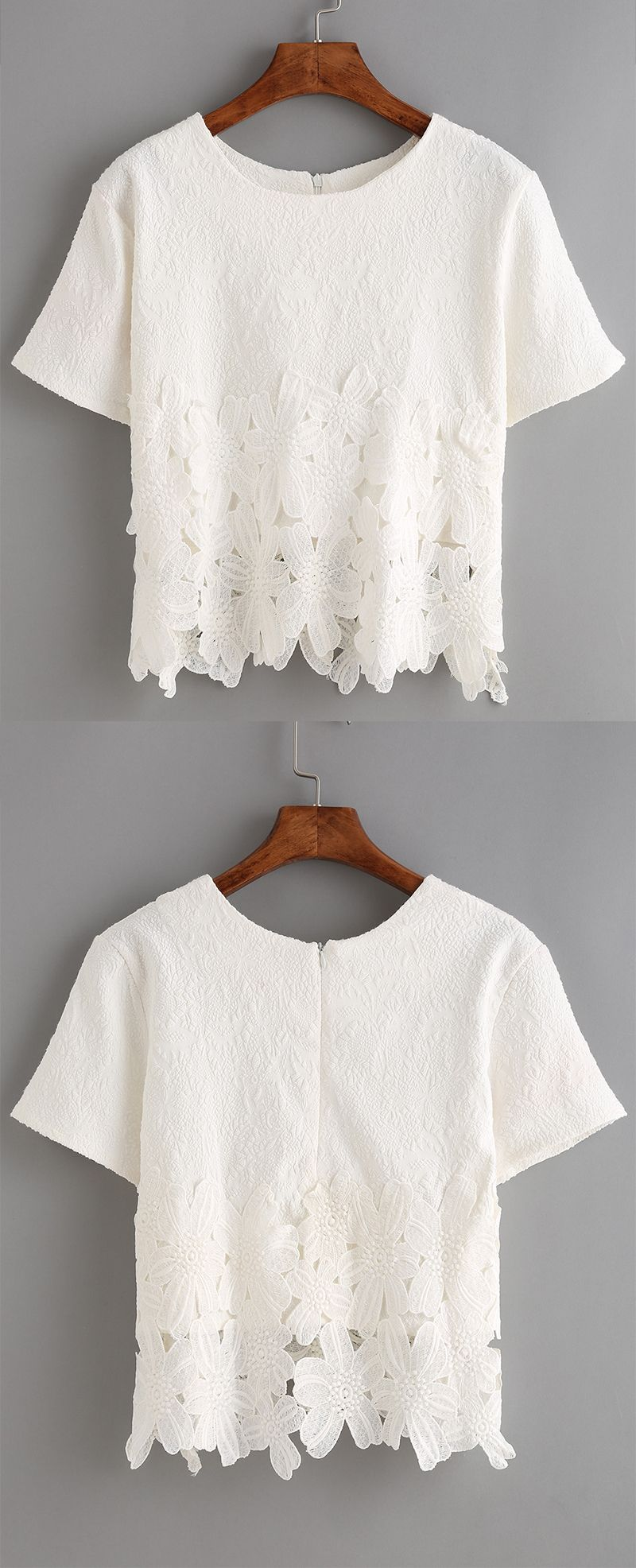 Absolutely love the delicate lace insert jacquard on this soft t ...
