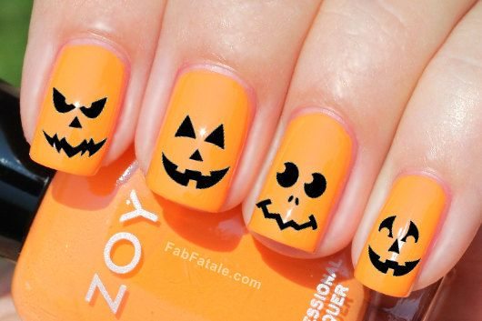 Jack O Lantern Nail Art Decals Nail Stickers By Ilovenaildecals 4 75 Nails Nail Art 2014 Manicure