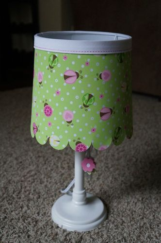 New Circo Girl Table Lamp Green Pink Yellow Ladybugs White Base Yellow Ladybug Ladybug Nursery Ladybug