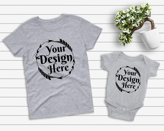 Download Mockup Tshirt Heather Grey Parent Baby Mockup Mom Kid Flat Lay Bella Canvas Rabbit Skins Blank White Shirt Child Mockup Thanksgiving Mockup Free Psd Free Packaging Mockup Free Psd Mockups Templates