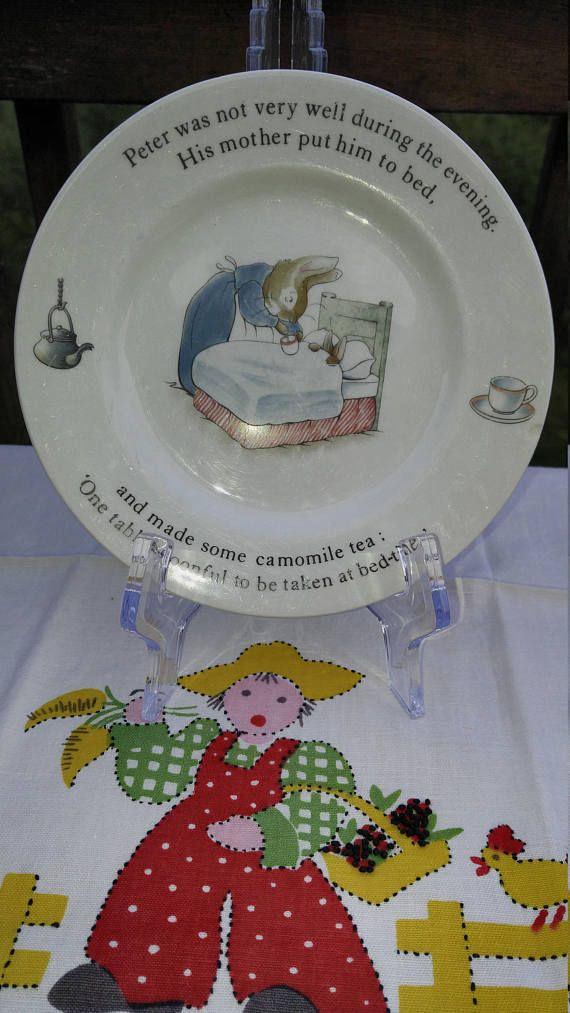 Wedgwood Peter Rabbit Child S Plate Vintage Antiques I Love For The Children Pinterest And
