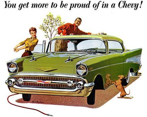 chevy ad auto amerikanische oldtimer alte autos und. Black Bedroom Furniture Sets. Home Design Ideas
